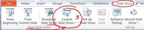 custom slide show button
