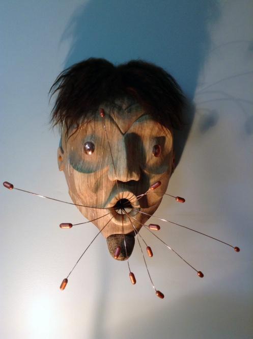Pill Pusher Mask, aka Modern Medicine Man Mask, by Francine Champagne
