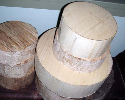 yellow cedar and spalted alder blanks