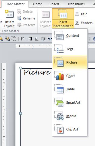 how to create new text box on master powerpoint