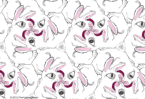 Symmetry-Group-P3-Rabid-Rabbit - © 2013 Champagne Design