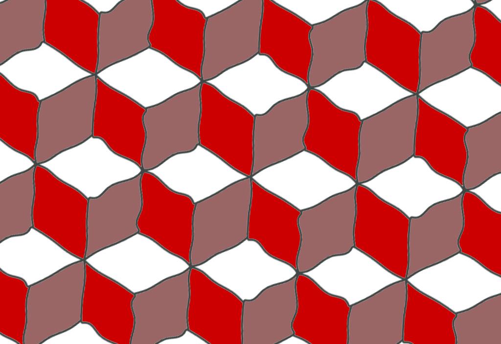 Symmetry-Group-P3m1 — Quick-Louis-Cubes-II — © 2013-Champagne-Design