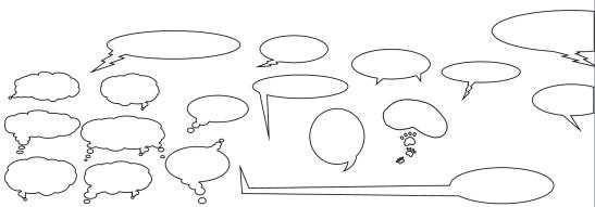 A sampling of custom speech bubbles