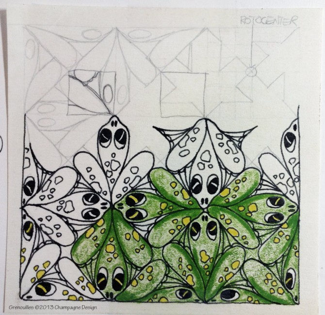 First ever tessellation sketch using symmetry group p4g