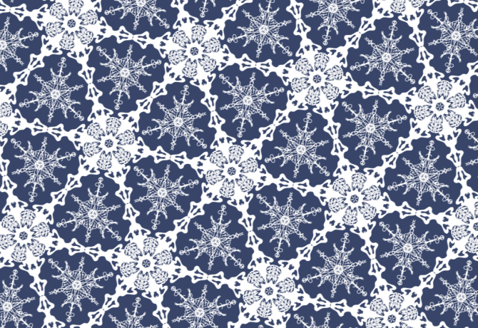 Symmetry Group P6m — Perfect for drawing Snowflakes