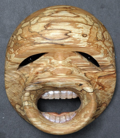 Masque de la ventouse, spalted alder