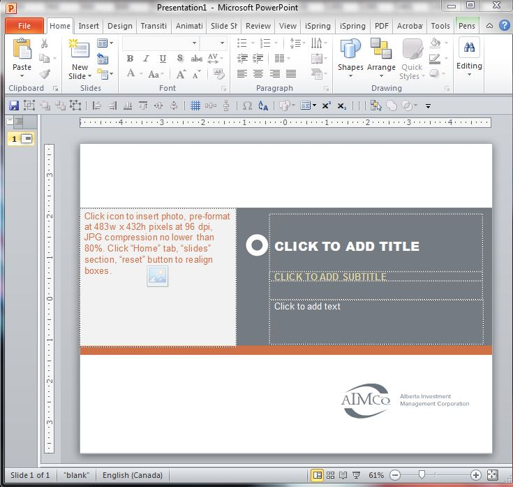 Replacing that awful default powerpoint template champagne your new template will show up first try toneelgroepblik Gallery