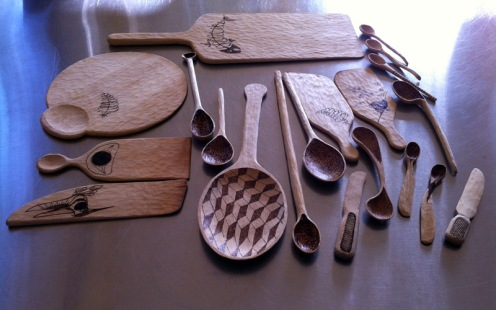 Spoons, spatulas and knives