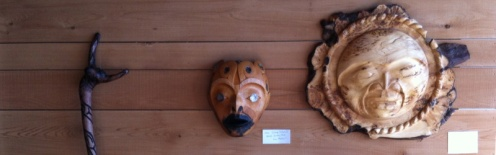 Masks by Gordon Dick and Qwaya Sam