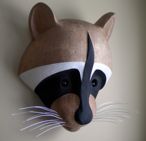 Sam's Raccoon Mask, ©2009 Champagne