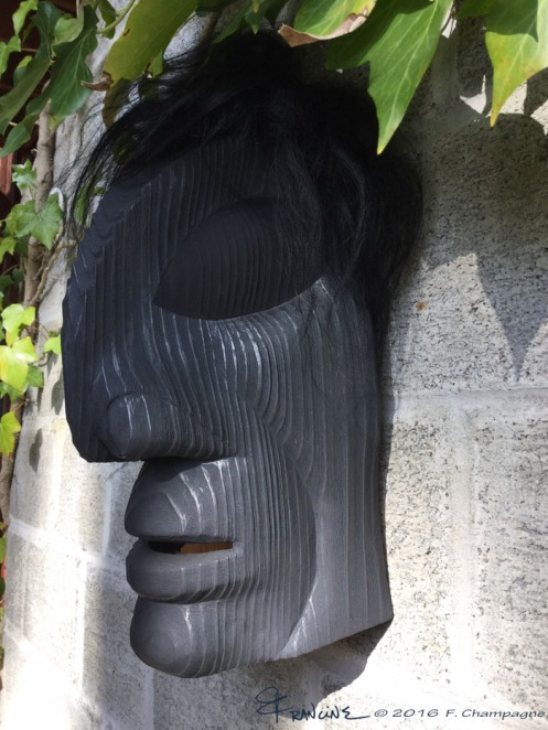 Raven Man mask, the fourth one I have carved