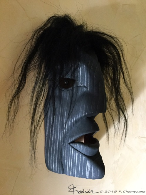 Raven Man mask, the fifth, with a nice curve in the shape of the lips