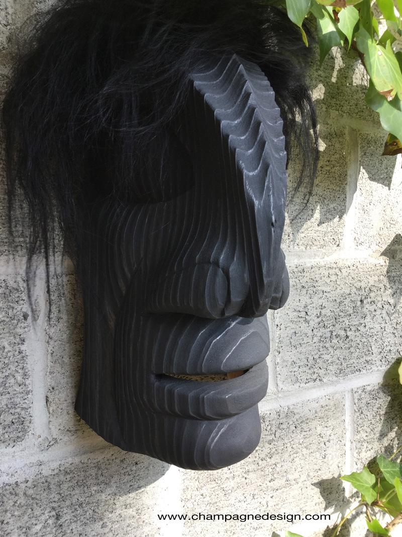 Burnished Raven Man mask