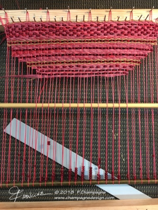 Beads are threaded directly on the warp
